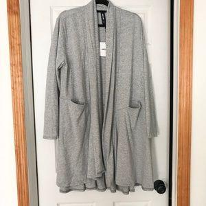 Grey cascade cardigan